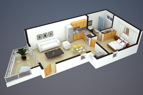 1 bedroom 1 bathroom Apartment for sale - 1