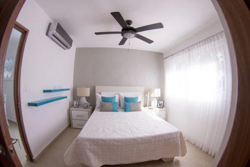 Bedroom area ocean front unit for sale cabarete cristamar