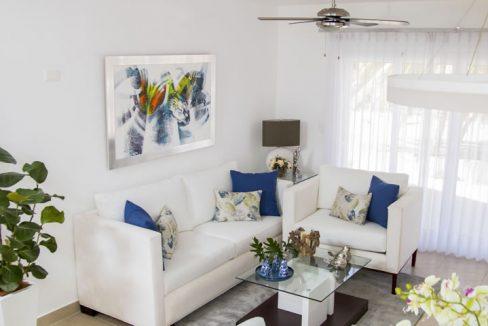 Cristamar living area ocen front apartment cabarete
