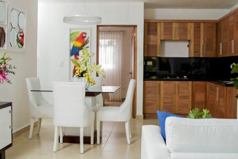 Cristamar ocean front kitchen area