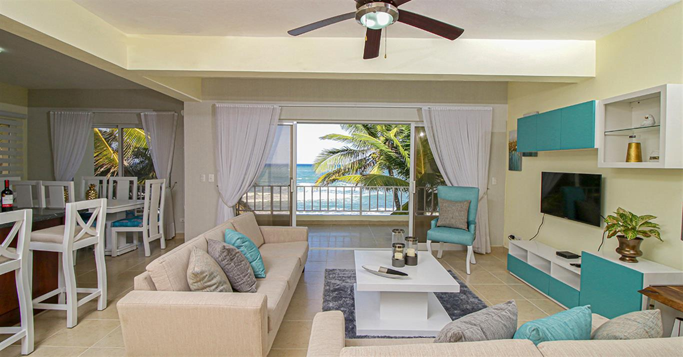 Oceanfront 3 bedroom apartment for sale Cabarete