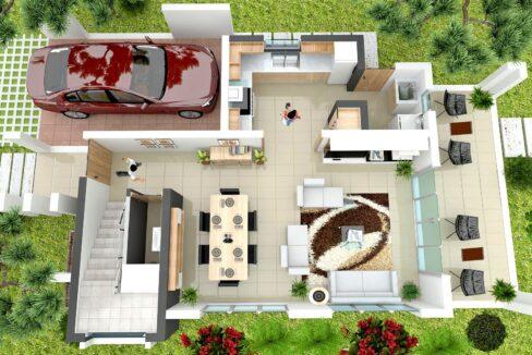 3 bedrooms villa for sale sosua - Villa Zafiro 1ER NIVEL