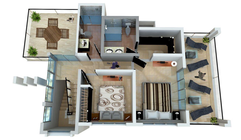 2 Bedrooms Villa for sale Sosua - Villa Onix -  2DO NIVEL