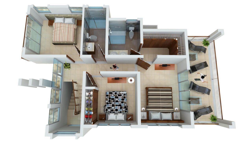 3 bedrooms villa for sale sosua - Villa Zafiro 2DO NIVEL 3HAB
