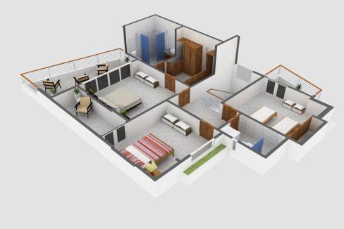 3 bedrooms house for sale sosua – Villa Rubi -3